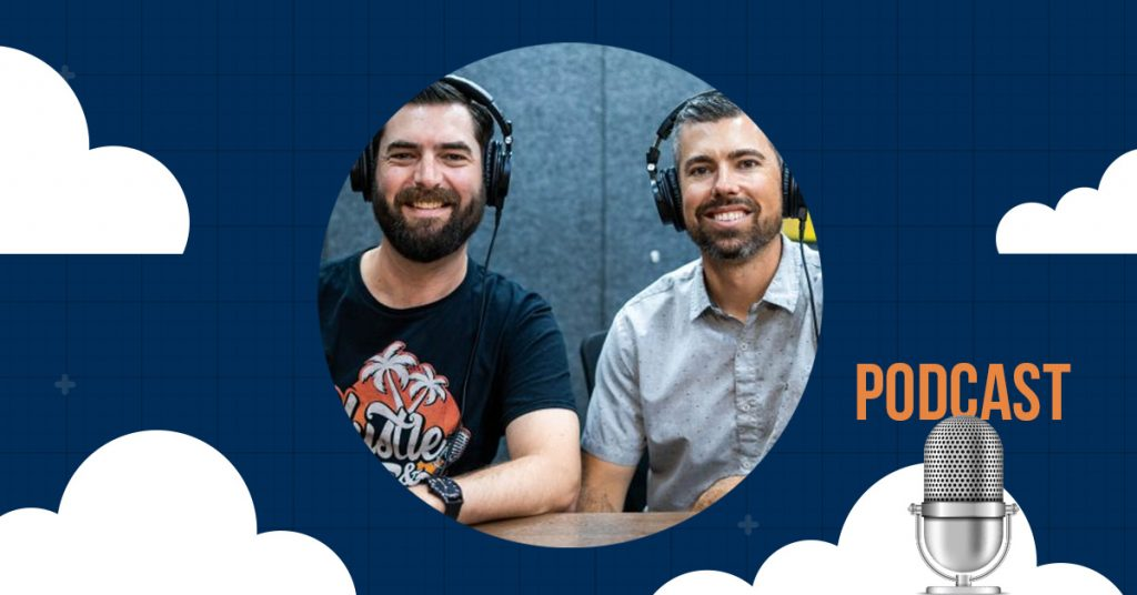 Picture of Joe Fier and Matt Wolfe the team behind the Hustle & Flowchart podcast