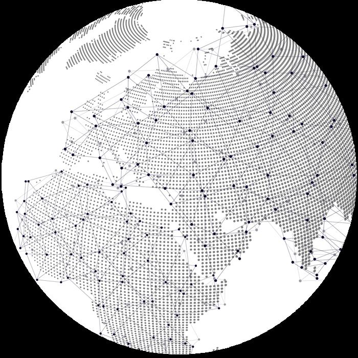 wireframe globe graphic